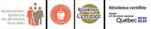 Nos certifications Les Résidence Fernand Blais.